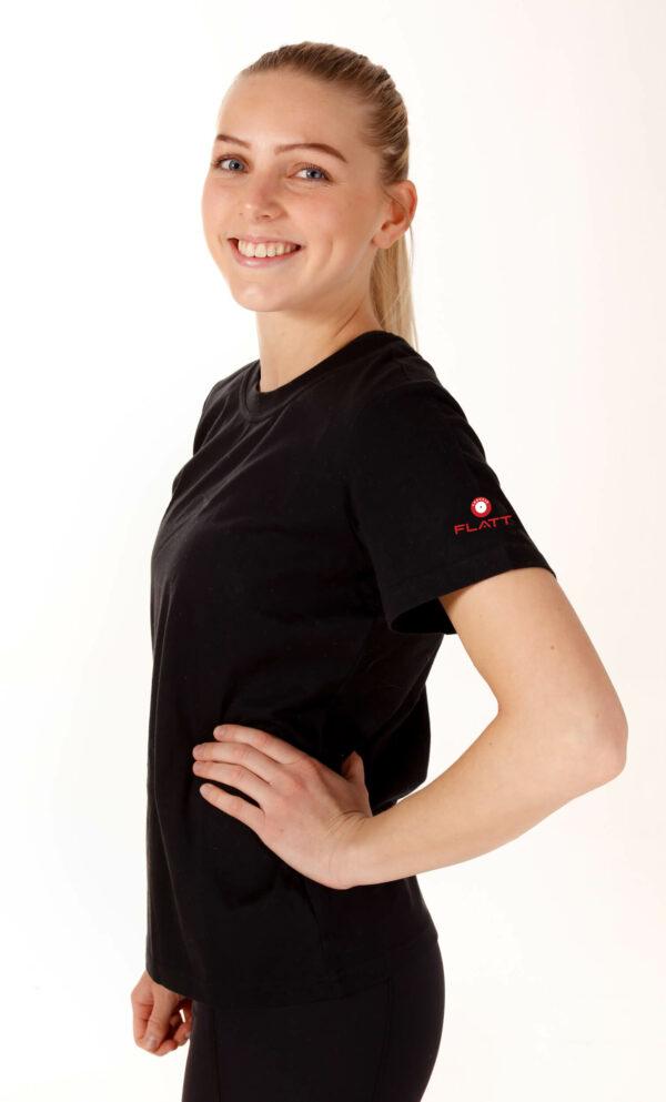 T-skjorte-dame-sort